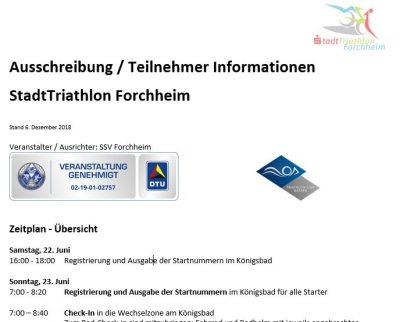 Ausschreibung / Teilnehmerinformation
